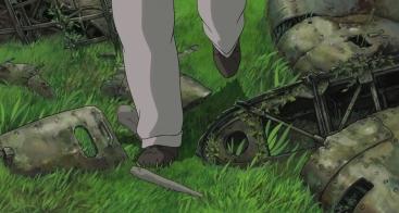 Fourth sequence - Jiro walks through the graveyard
